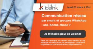 Communication réseau par emails et groupes WhatsApp : une bonne chose ?